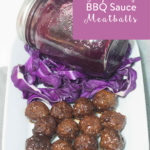TheInspiredHome.org // Tangy Grape Jelly BBQ Sauce Meatballs. Easy crock pot meatballs ready for your next pot luck or game day celebration!