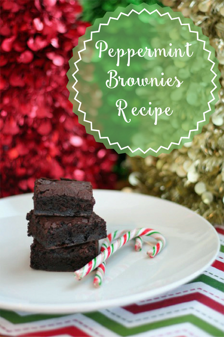 TheInspiredHome.org // Peppermint Brownies Recipe