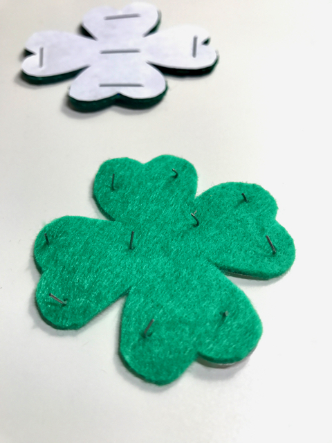 Simple Felt Shamrock Hair Clip + Template • The Inspired Home