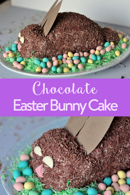 Chocolate easter bunny cake lactose free the inspired home chocolate easter bunny cake lactose free negle Images