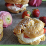 TheInspiredHome.org // Strawberry White Chocolate Mini Cream Puffs
