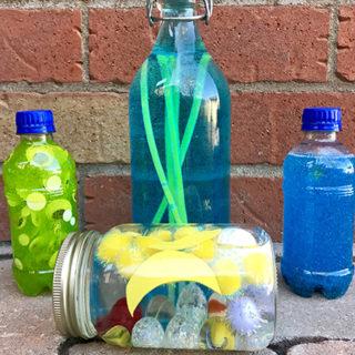 DIY Sensory Bottles: Outer Space
