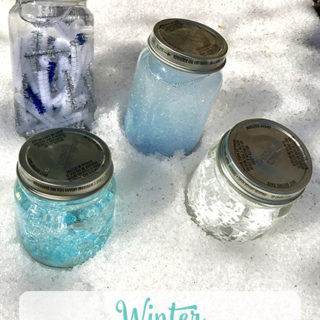 Sensory Bottle Ideas: Winter