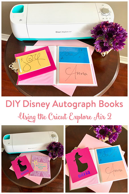 TheInspiredHome.org // Create a beautiful and customized DIY Disney autograph book and matching clipboard using your Cricut Explore Air 2.