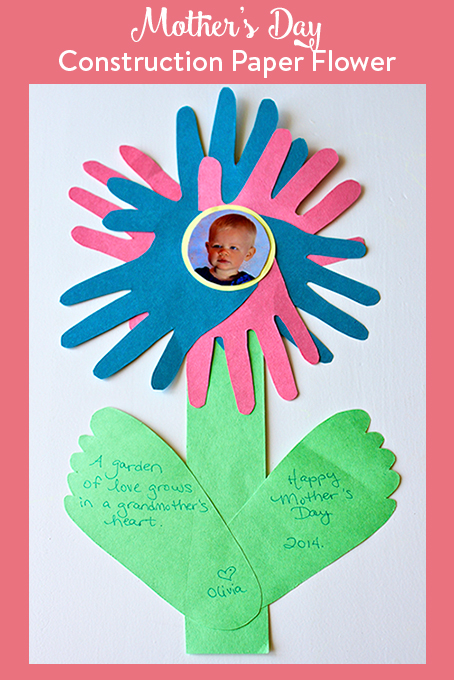 TheInspiredHome.org // This Mother's Day, give mom or grandma one of these everlasting construction paper flowers. Quick and simple to make, they will brighten everyone's day!