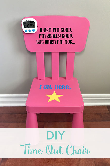 TheInspiredHome.org // Using your Cricut Explore Air and some vinyl, you can make a personalized DIY time out chair for your little troublemaker. Add a timer and you're all set!