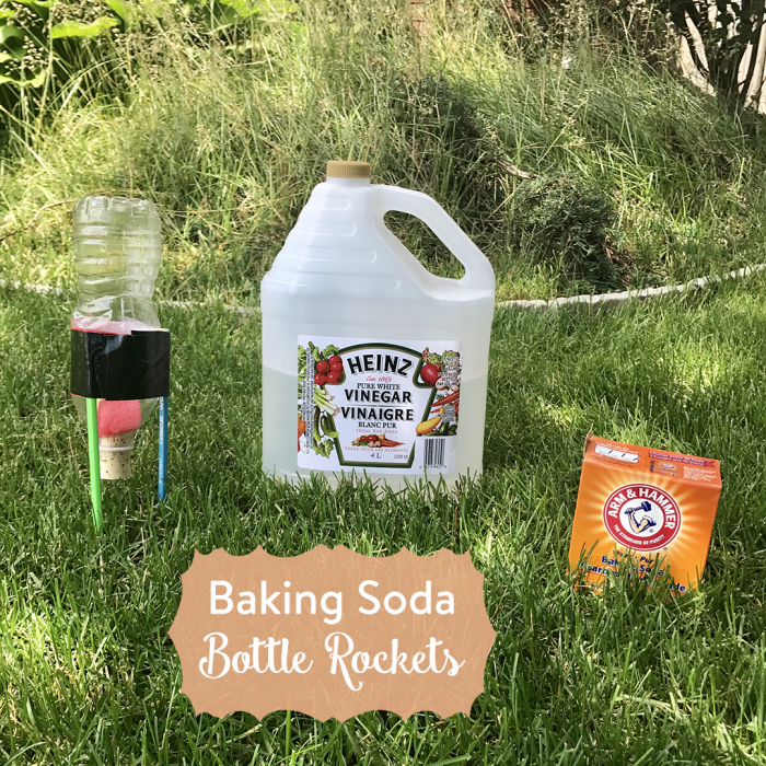 Water Rockets Made Out Of Soda Bottles: Baking Soda Bottle Rockets • The Inspired Home