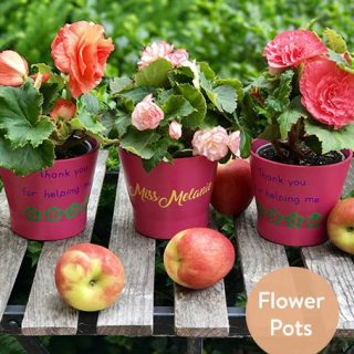 Personalized Teacher Gifts – Flower Pots