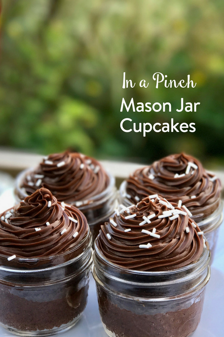 TheInspiredHome.org // Need a dessert that looks fancy but whips up quickly? We've got you covered with these adorable mason jar cupcakes in a pinch.