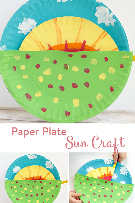 TheInspiredHome.org // Paper Plate Sun Craft. This simple colourful paper plate & paint craft is sure to be a hit with your little people.