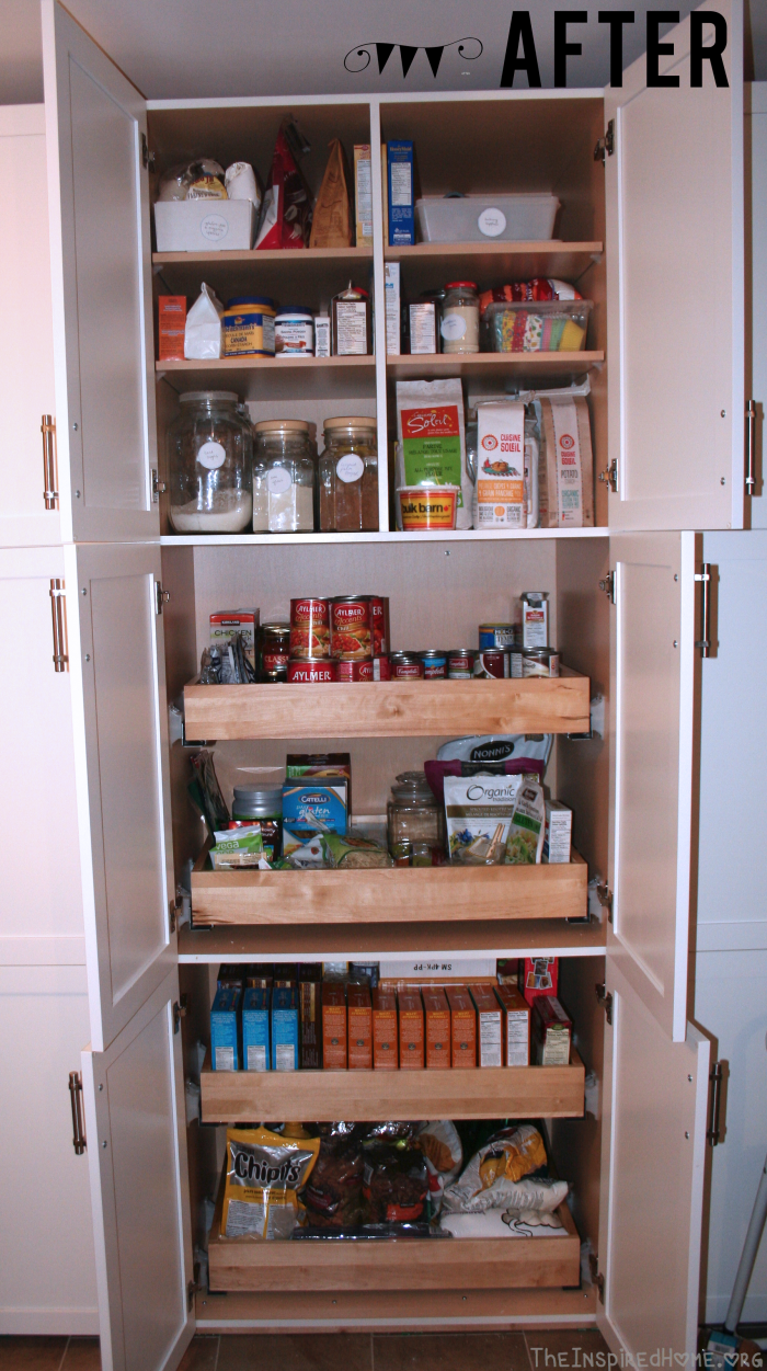 Healthy Pantry Organization After Left Side by theinspiredhome.org