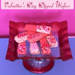 Valentine's Day Dipped Wafer Cookies at TheInspiredHome.org