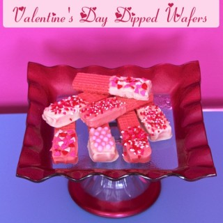Valentine's Day Dipped Wafers