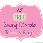 TheInspiredHome.org // 15 Free Sewing Tutorials for various Totes & Bags {Roundup}