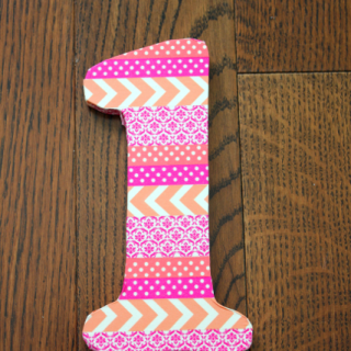 Birthday Party Ideas: Washi Tape Number