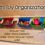 TheInspiredHome.org // Bath Toy Organization - a quick, simple and inexpensive way to organize all of those toys in your bathroom