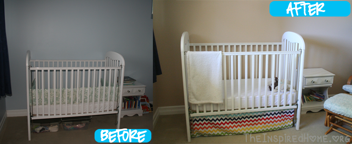 TheInspiredHome.org // Before & After Nursery Reveal