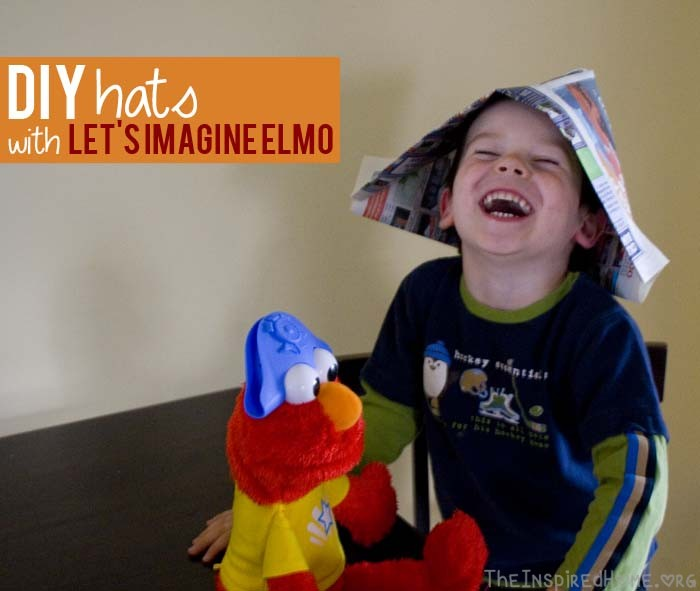 TheInspiredHome.org // DIY hats with Let's Imagine Elmo