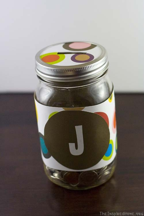 TheInspiredHome.org // DIY Money Jar Gift. A last minute gift, perfect for the young saver in your life.
