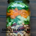 TheInspiredHome.org // 3 Simple Mason Jar Salad + 1 Soup Ideas. Easy colourful simple bean salad made in less than 10 minutes.