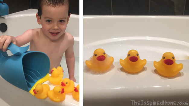 Ducky Tub Scooping and Lining Up