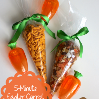 Make a No Candy Easter Carrot Treat Bag in 5 Minutes!