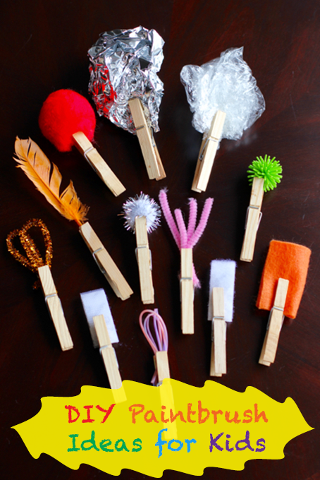 TheInspiredHome.org // DIY Paintbrush Ideas for Kids using Household Items