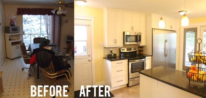 Before After Kitchen Wall