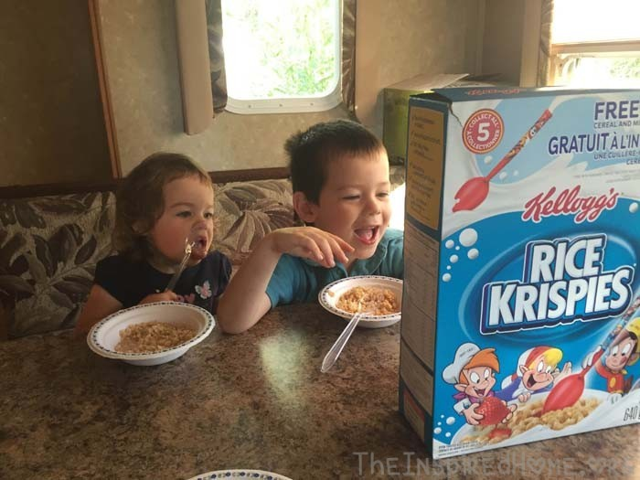 Early Morning Mother and Son Dates Cereal Date