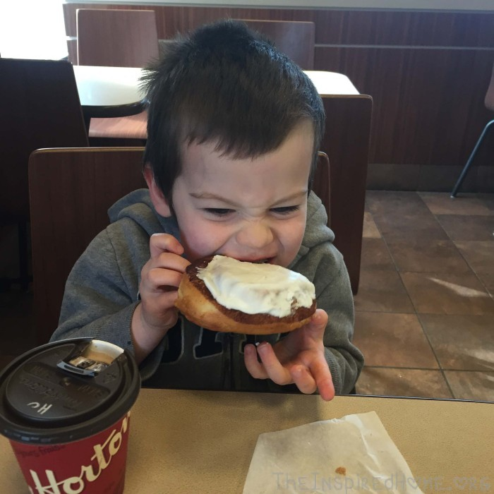 Early Morning Mother and Son Dates Donut Date