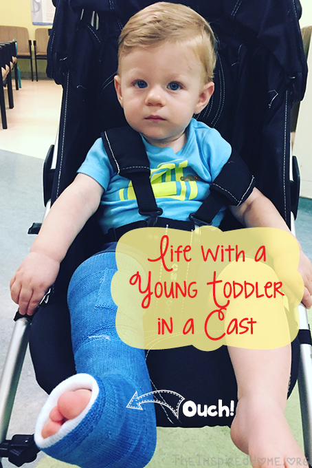TheInspiredHome.org // Life with a Young Toddler in a Cast