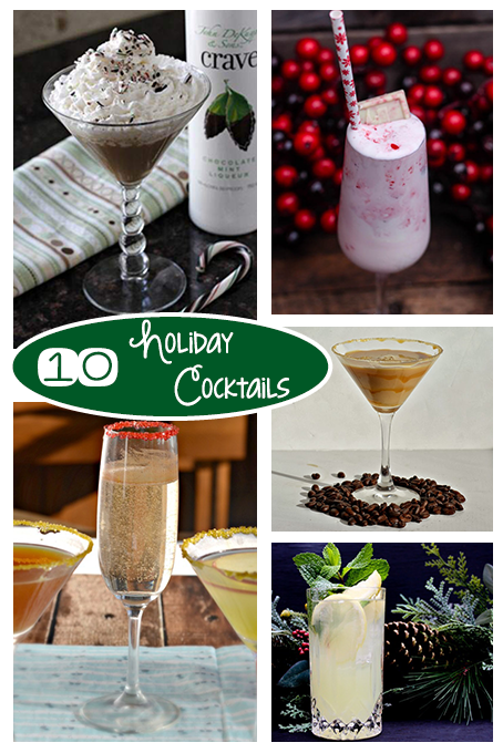 TheInspiredHome.org // 10 Holiday Cocktails perfect for your Christmas or New Year's Eve party.