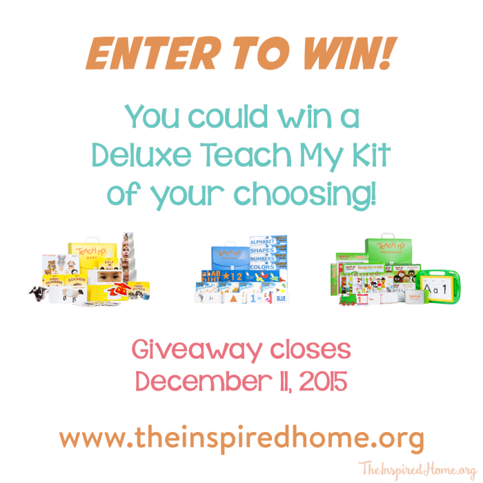 teach my giveaway