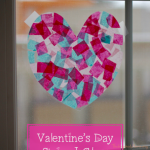 Valentine's Day No-Mess Stained Glass Toddler Craft
