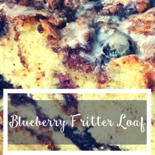 Blueberry Fritter Loaf Recipe made Lactose-Free