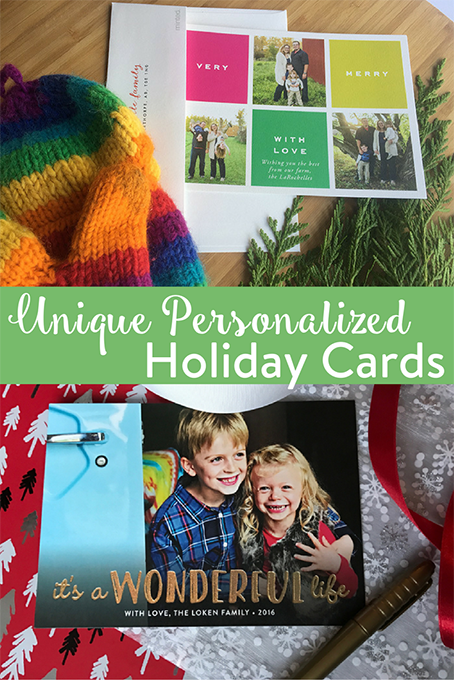 TheInspiredHome.org // Send a smile to your family and friends this holiday season with the perfect personalized holiday card. Think it's hard to find? Melanie and Holly found the perfect place online to score your next impressive holiday photo card.