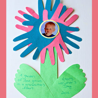 Mother's Day Construction Paper Flowers