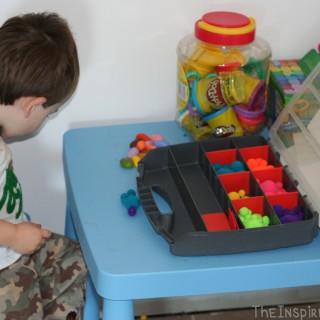 Montessori Inspired Monday: Pom Pom Sorting