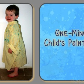 1 Minute Child's Paint Smock