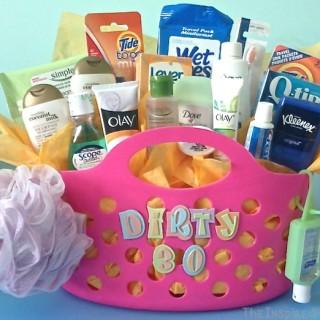 Dirty Thirty Gift Basket