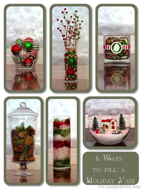 holiday vases