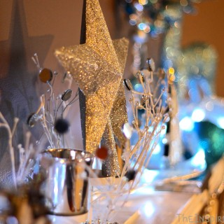 Blue and Silver Mantel