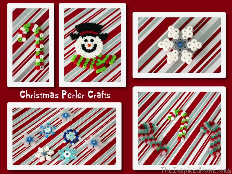 Christmas Perler Bead Crafts The Inspired Home