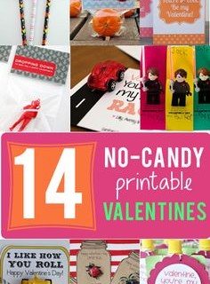 14 No-Candy Free Printable Valentines Cards
