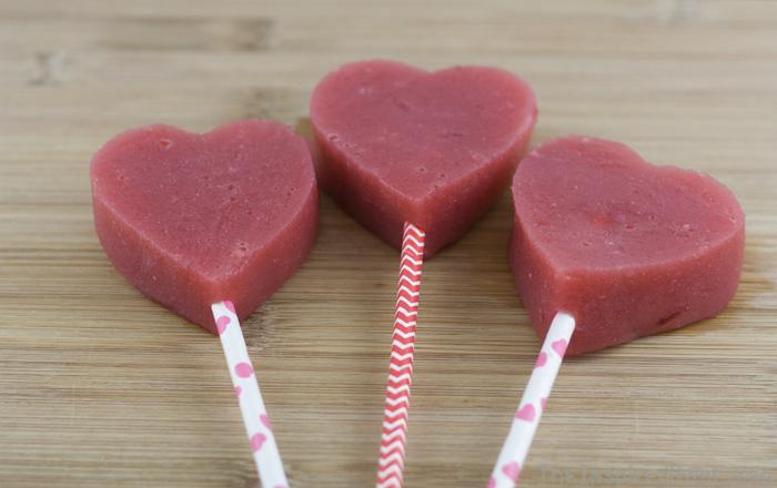 Healthy Valentines Day Treats - Strawberry Hearts