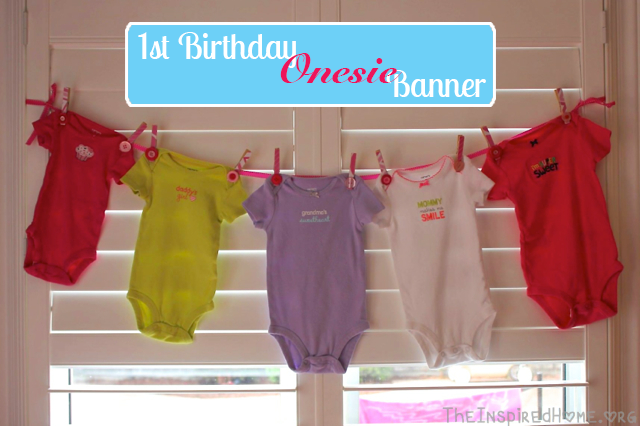1st birthday party ideas onesie banner tutorial the inspired home
