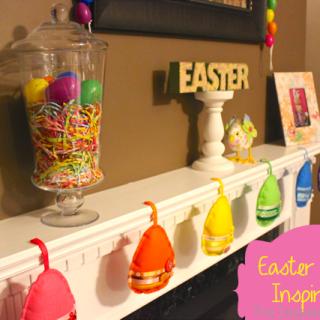 Easter Mantel Decor