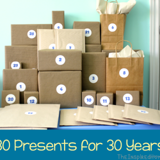 30th Birthday Gift Idea: 30 Presents for 30 Years