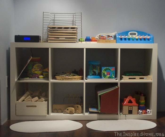 Awesome Playroom Storage Shelves Expedit White