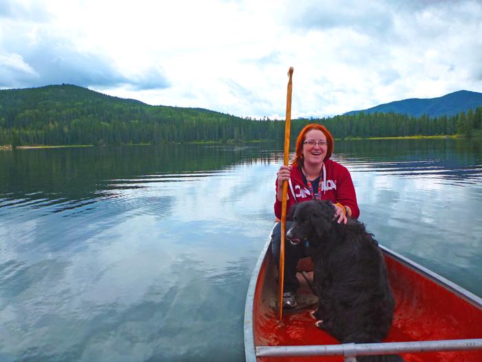 Meagan in the Canoe